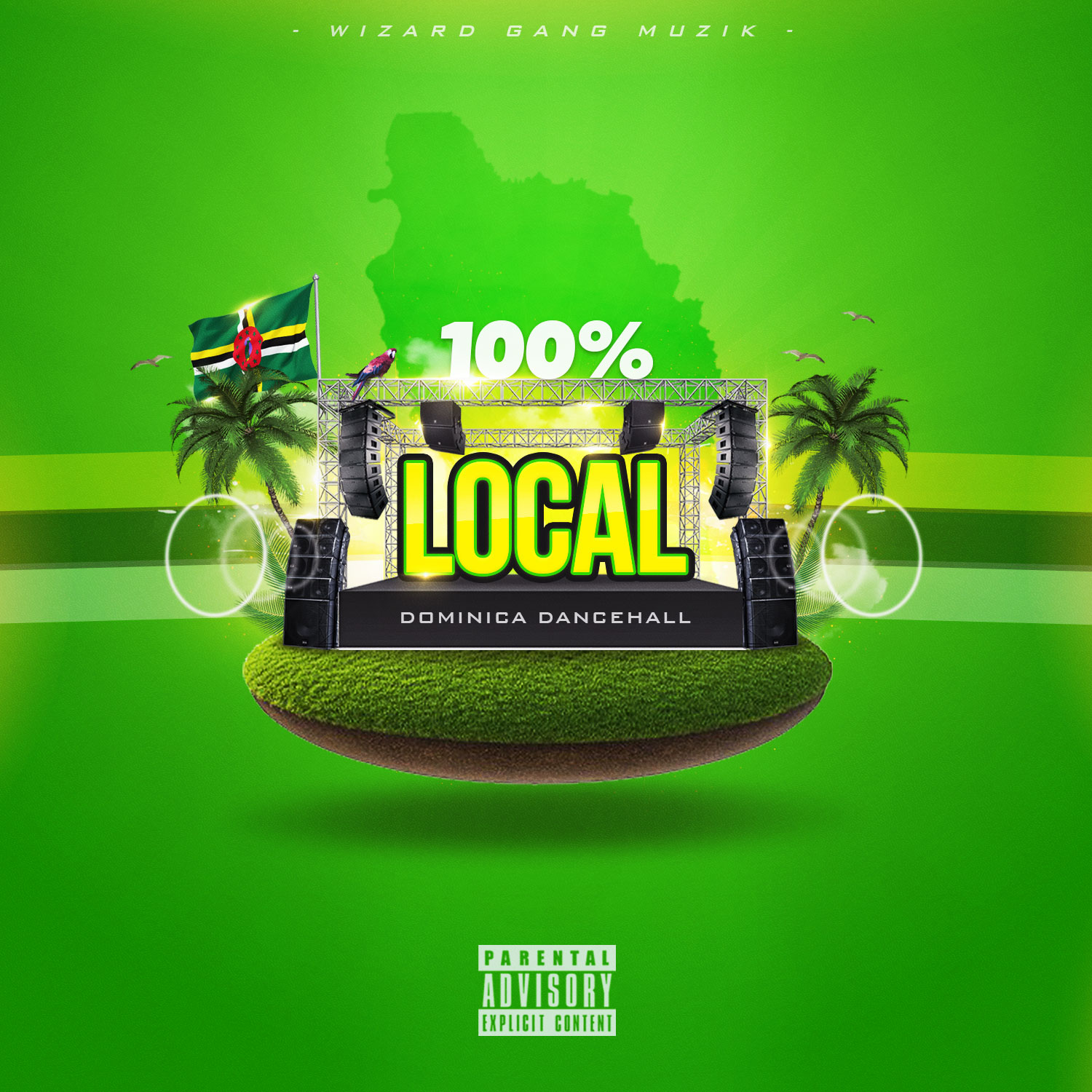 Dj Wizz767 – 100% Local (Dominica Dancehall Mix)